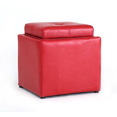 Cube Storage Ottoman Upholstery: Red