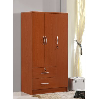 3 Door Armoire Finish: Cherry