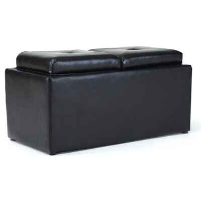 Medium Storage Ottoman Upholstery: Brown