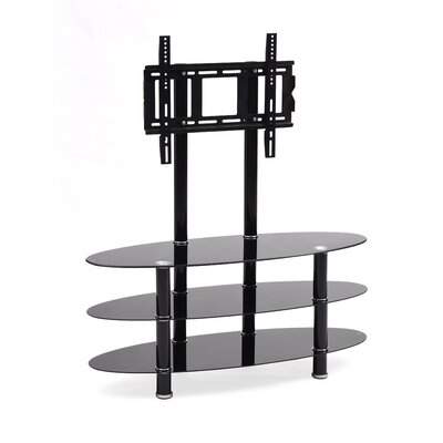 Hodedah 43 Glass TV Stand