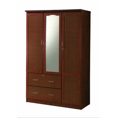 3 Door Armoire Finish: Mahogany