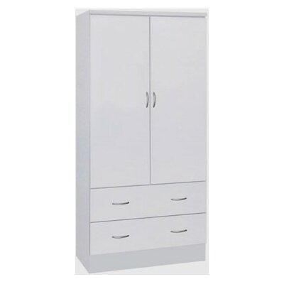 Wardrobe Armoire Finish: White