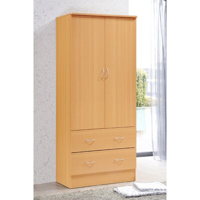 Wardrobe Armoire Color: Beech
