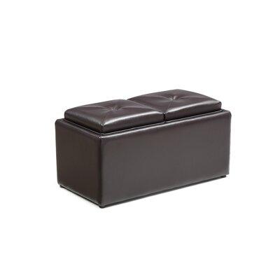 Elmwood Medium Storage Ottoman Upholstery: Brown