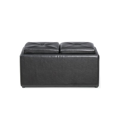 Medium Storage Ottoman Upholstery: Black