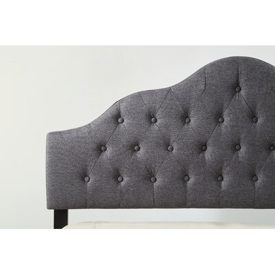 Fuhrmann Upholstered Panel Headboard Size: Full, Upholstery: Gray