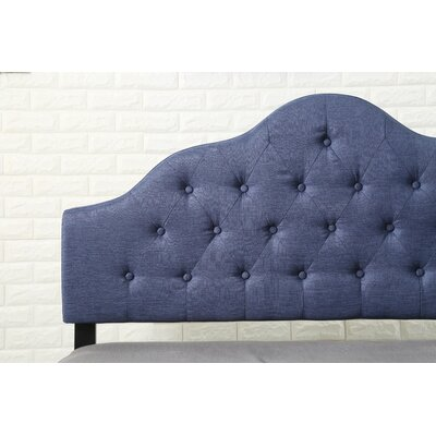 Fuhrmann Upholstered Panel Headboard Size: Twin, Upholstery: Blue