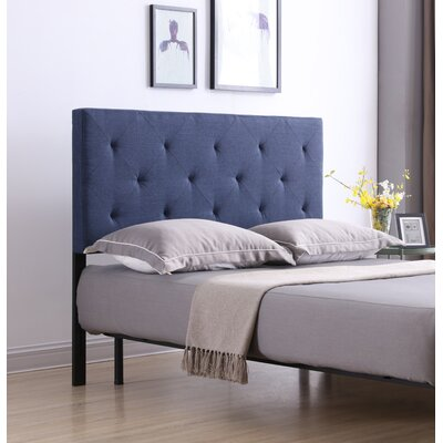 Fredricks Upholstered Panel Headboard Size: Queen, Upholstery: Blue