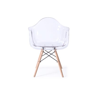 Revis Mid Century Transparent Dining Chair