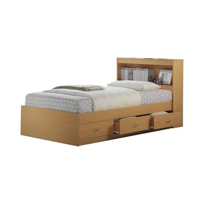 Airdrie Twin Captains Bed with 3 Drawers Bed Frame Color: Beech