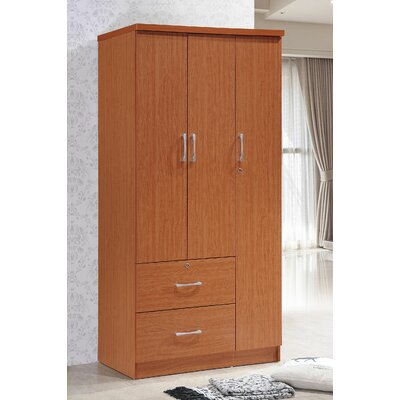 Blankenship 3 Door Armoire Color: Cherry