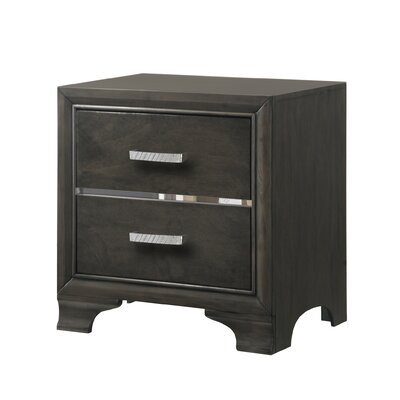 Paxton Rectangular 2 Drawer Nightstand