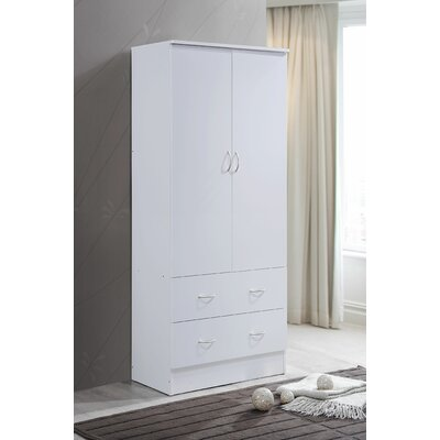 Wardrobe Armoire Color: White