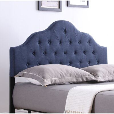 Fuhrmann Upholstered Panel Headboard Size: Full, Upholstery: Blue