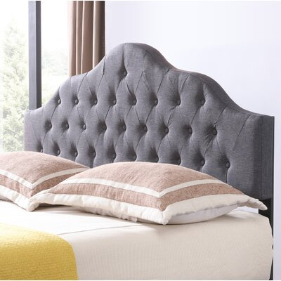 Fuhrmann Upholstered Panel Headboard Size: Twin, Upholstery: Gray