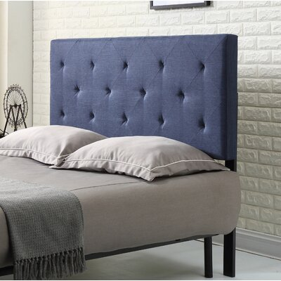 Fredricks Upholstered Panel Headboard Size: Twin, Upholstery: Blue