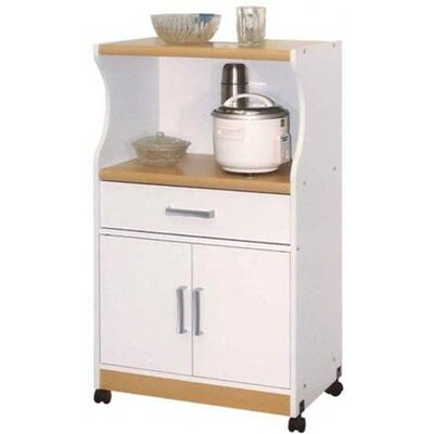 Hodedah Microwave Cart - Finish: White at Sears.com