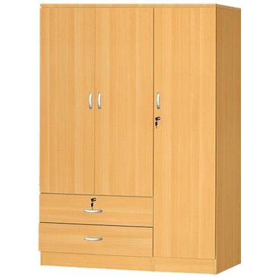 3 Door Armoire Finish Beech