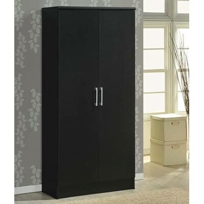 2 Door Armoire Finish Black