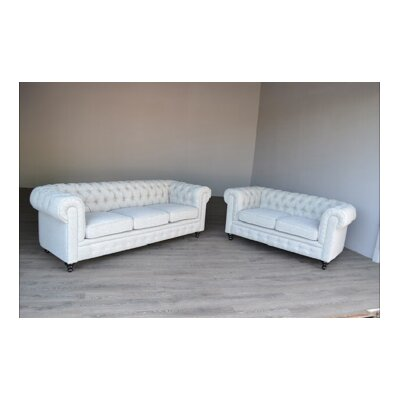 Regular Tufted Sofa and Loveseat Set
