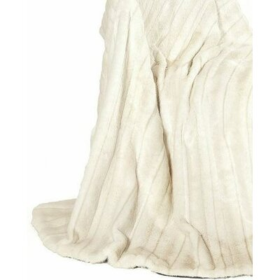 Fancy Mink Fur Throw Blanket