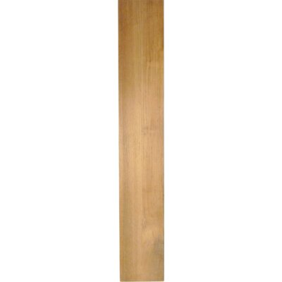 Solid Teak Lumber Plank Size: 0.38 H x 5.75 W x 36 D