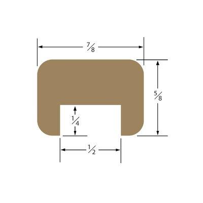 0.5 x 0.5 x 60 Teak Bulkhead Molding