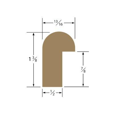 1.38 x 0.81 x 60 Solid Teak Straight Length Edge Molding