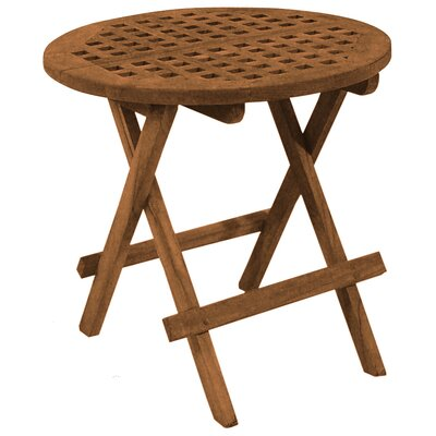 Round Folding Deck Side Table