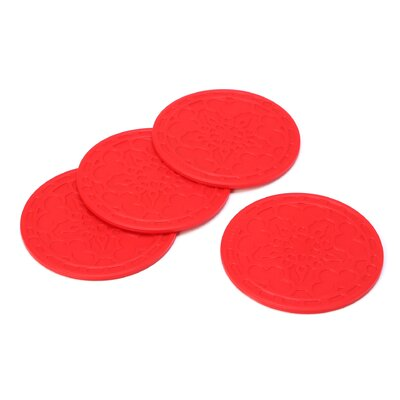 """4"""" French Coaster Color: Cerise FB510-67"""