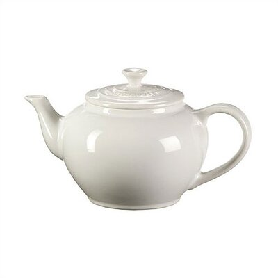 Le Creuset 22-Ounce Small Teapot with Infuser in White