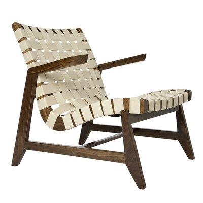 Rapson-Inc. Greenbelt Lounge Chair - Finish: Walnut, Fabric Color: Black Leather