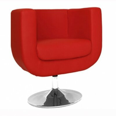 Bliss Barrel Chair Upholstery: Red