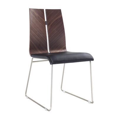 Lauren Dining Chair Upholstery: Black