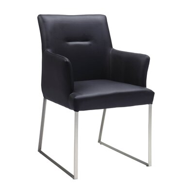 Larry Arm Chair Finish: Black