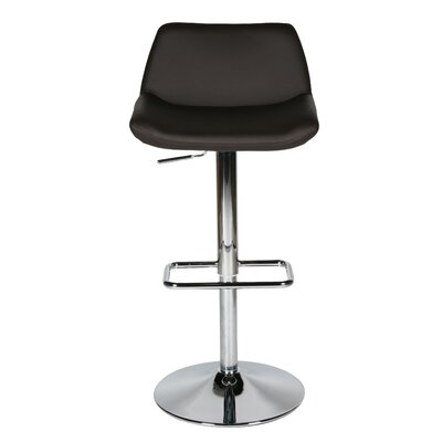 Maya Adjustable Height Swivel Bar Stool Upholstery: Chocolate