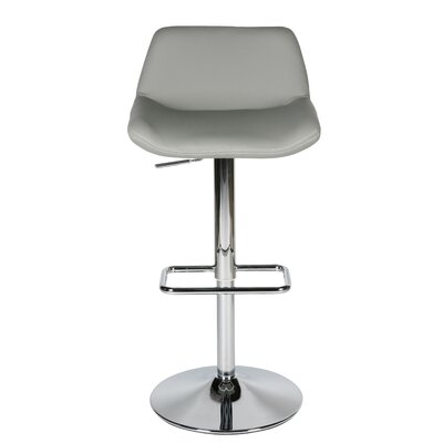 Maya Adjustable Height Swivel Bar Stool Upholstery: Grey