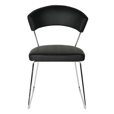 Rosy Dining Chair 2 Upholstery: Black