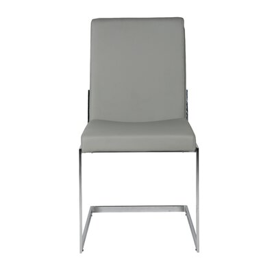 Chily Upholstered Dining Chair (Set of 2) Upholstery: Grey