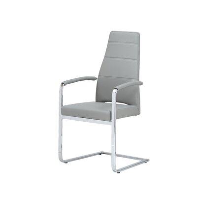 Ville Dining Arm Chair Upholstery: Grey