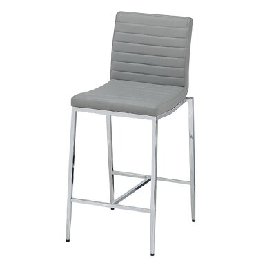 Lily 26 Bar Stool (Set of 2) Upholstery: Grey