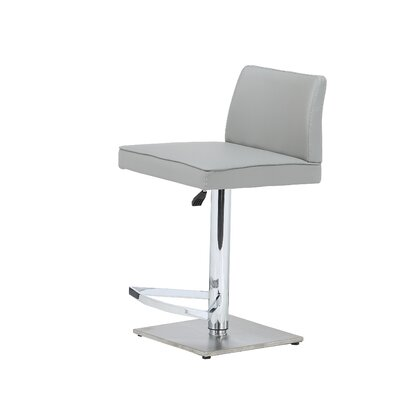 Medusa Adjustable Height Swivel Bar Stool Upholstery: Grey