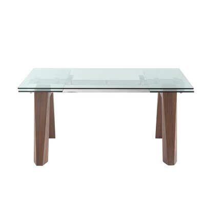 Valencia Extendable Dining Table Base Finish: Walnut