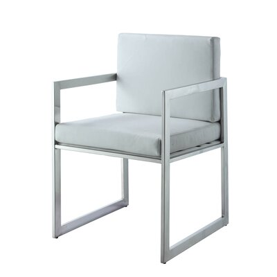 Rectangulo Arm Chair Upholstery Color: White