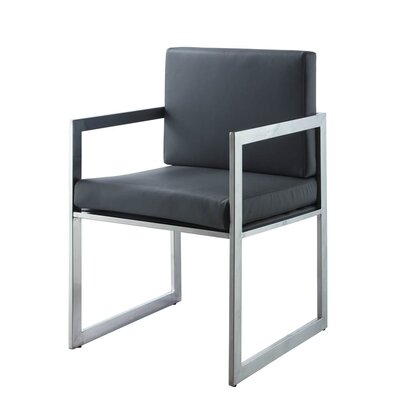 Rectangulo Arm Chair Upholstery Color: Gray