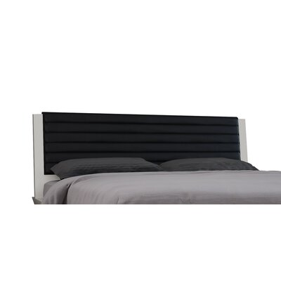 Angulatus Upholstered Panel Headboard Size: Queen, Upholstery: Black