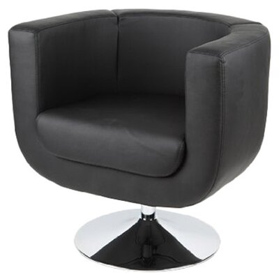 Bliss Barrel Chair Color: Black