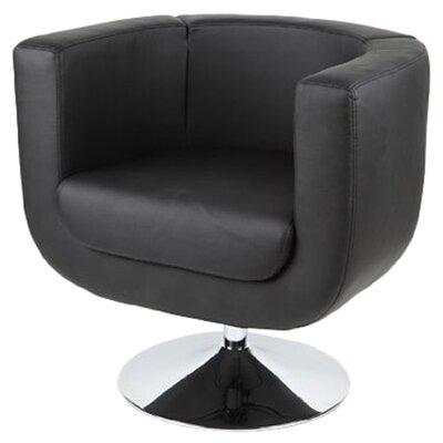 Bliss Barrel Chair Upholstery: Black