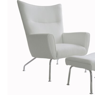 Melanie Armchair and Ottoman NCAA Team: White