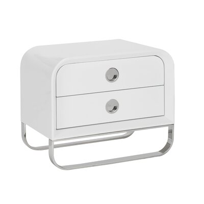 Liquido 2 Drawer Nightstand